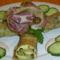 Medvehagymás , zöldséges palacsinta