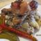 Sült csirkecomb gombás burgonyával