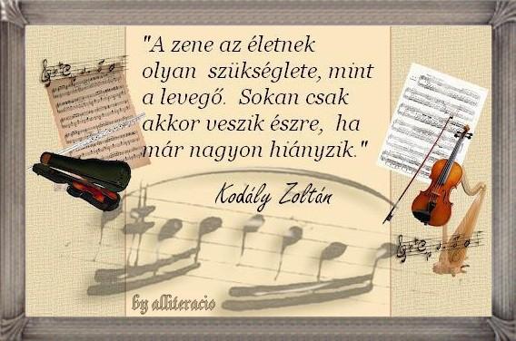 szép idézetek zenével Dalszöveg: zene (kép)