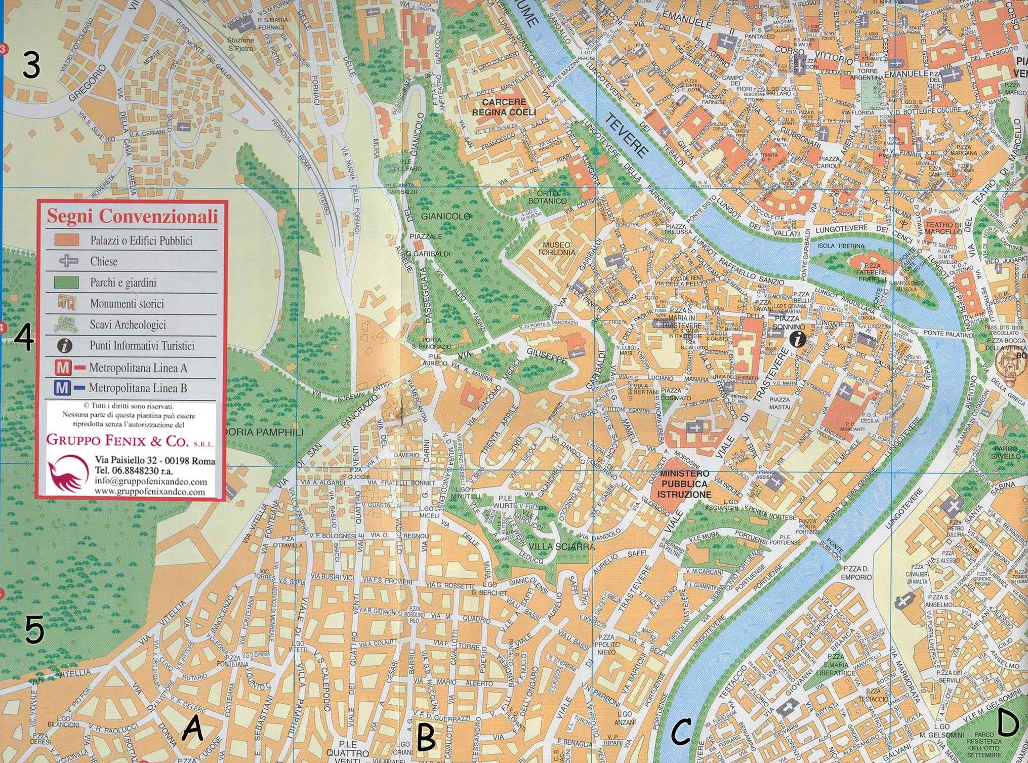 róma térkép Róma: Trastevere térkép (kép) róma térkép