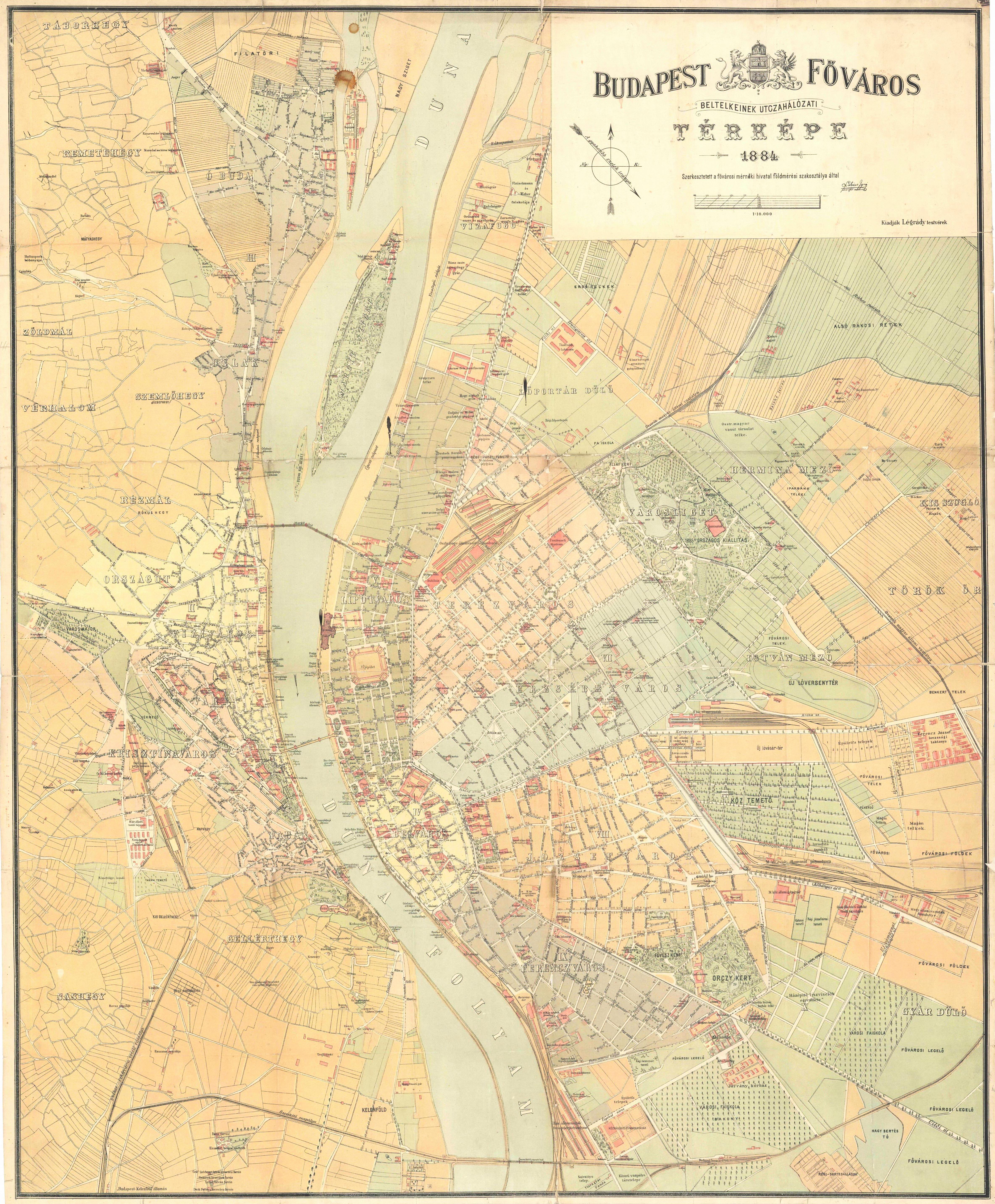 bp térkép hu Utitárs: 1884   Budapest térkép (kép) bp térkép hu