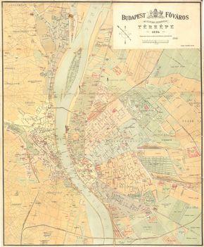 1884 - Budapest térkép