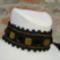Kézimunkasuli -  Horgolt nyakék gyöngyökkel