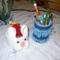 Nyuszikosár és tolltartó