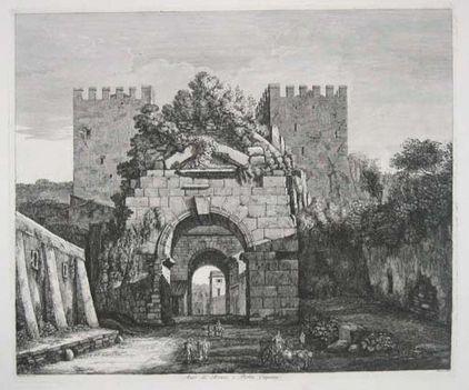 Arco di Druso, e Porta Capena