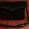 Fekete horgolt táska