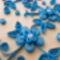 Quilling kék virágok