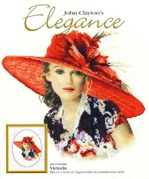 Piros kalapos nő