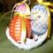 Horgolt tojások kosárban 2