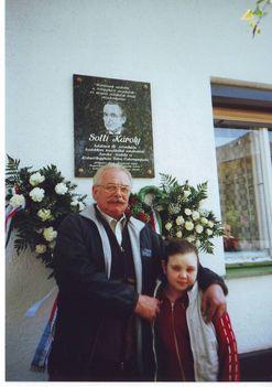 Solto Károly emléktábla
