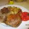 Kacsacomb fügés párolt káposztával és sült burgonyával