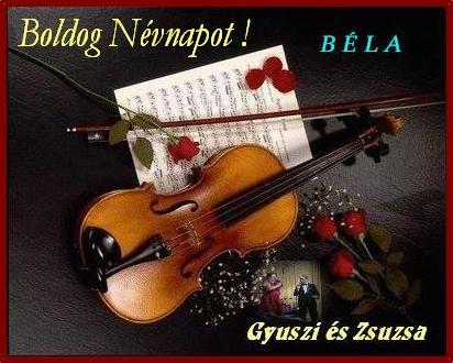Sánta Bélának, szeretettel: