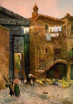 Ettore Roesler Franz_Case Medievali_1886