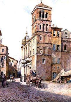 Ettore Roesler Franz_Chiesa di S Maria in Monticelli_1888