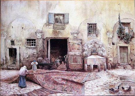Ettore Roesler Franz_Cortile di Palazzo Nardini_1883