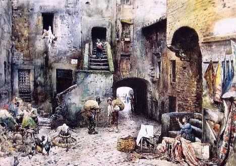 Ettore Roesler Franz_Piazza delle Azimelle_1881
