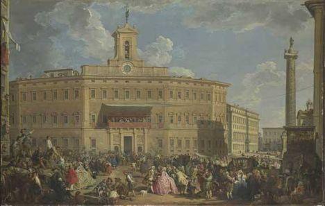 Antoninus Pius Column on Palazzo Montecitorio