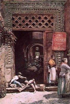 Ettore Roesler Franz_Ingresso alla casa dei Castellani_1885