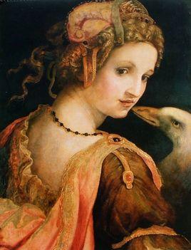 Michele di Ridolfo del Ghirlandaio_Leda e il cigno