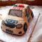 Rendőr autó torta