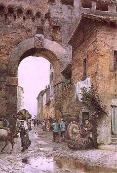 Ettore Roesler Franz_ Arco del Corridoio di Borgo -_1883