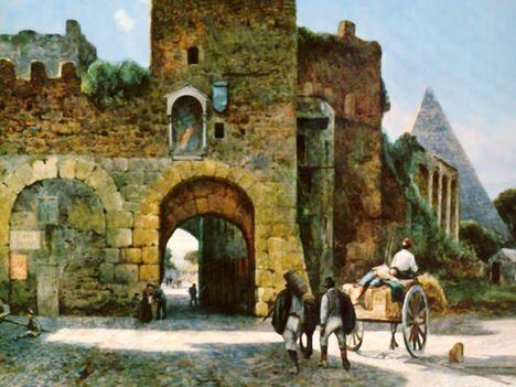 Ettore Roesler Franz_Piazza di Porta San Paolo_1896