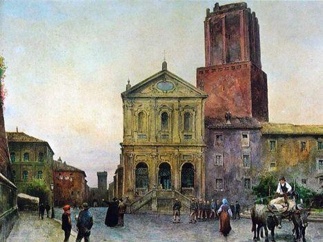 Ettore Roesler Franz_Via di Magnanapoli_1896