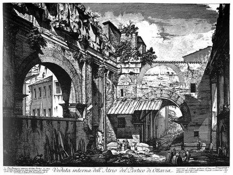 Giovan Battista Piranesi _ Portico di Ottavia _ 1774