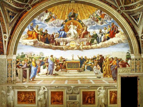 Raffaello Sanzio_La disputa del Santo Sacramento_1520