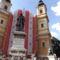 Szent László király szobra a Székesegyház előtt /a székesegyházat restaurálják/