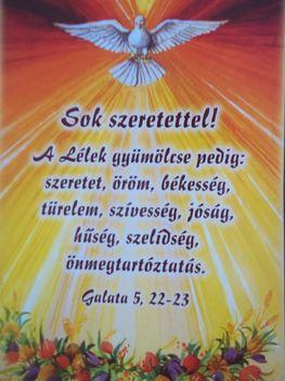 Áldott Pünkösdi Ünnepeket
