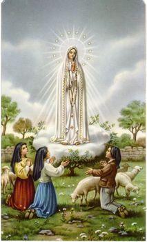 Fatimai felajánló imák A BOLDOGSÁGOS SZŰZMÁRIÁHOZ