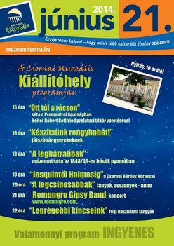 Múzeumok Éjszakája - Csorna, 2014.06.21
