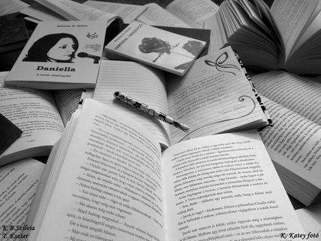 Szilvi könyvek és Eszti vers