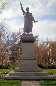 Izsó Miklós és Huszár Adolf alkotása, Petőfi szobor Budapesten