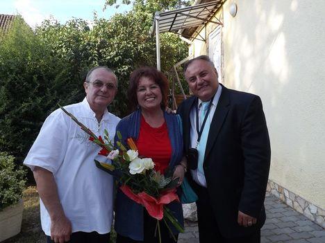 Rákosi Lászlóval és Pásztorka Sándorral a műsor után