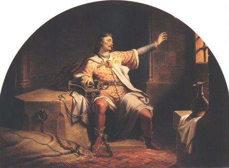 Weber Henrik Salamon király a börtönben