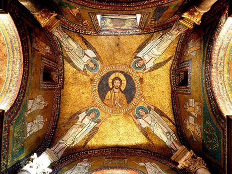 bizánci mozaik Rómában_ a Santa Prassede templom Zeno kápolnája