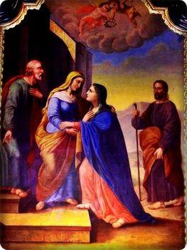 Július 2: Sarlós Boldogasszony: Szűz Mária látogatása Erzsébetnél