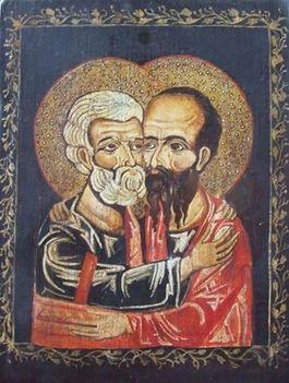 Péter és Pál....ikon..:Dáma Lovag Erdős Anna