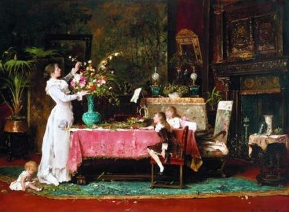 Munkácsy Mihály -  Apa születésnapja című festménye