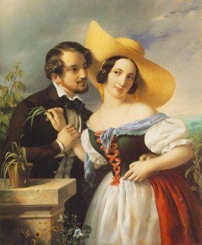 Barabás Miklós - Szalagfű (Enyelgés), 1841, Olaj, vászon, 106,5 x 84,5 cm, Magyar Nemzeti Galéria
