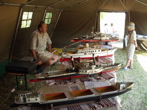 Magyar hajók modelljei.