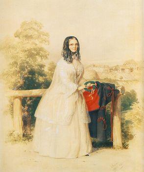 Nagy Sándor József menyasszonya, Kovács Schmidt Emma, 1849