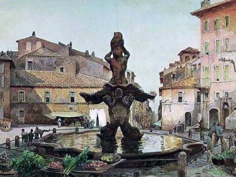 Ettore Roesler Franz_Piazza Barberini_1896