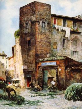 Ettore Roesler Franz_Piazza Margana_1896