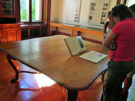 Szatmári-békét ezen az asztalon írták alá, Károlyi-kastély, Füzérradvány
