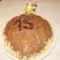 Kagyló formájú csokis torta