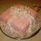 Málnus ajándékdoboz tortája