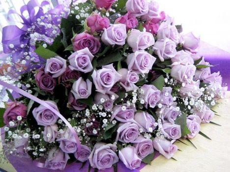 Egy csodálatosan szép csokor virág.